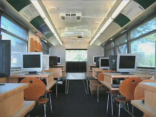 Inside an eBus