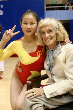 Mrs. Shriver at 2007 World Games in China<br>(Courtesy of Special Olympics)