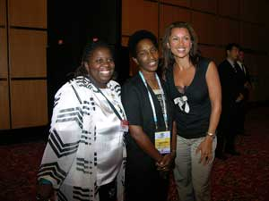 Loretta Claiborne, pictured at center<br>(Photo credit: Kathy Crockett)