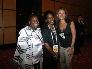 Loretta Claiborne, pictured at center<br>(Photo credit: Kathy Crockett)