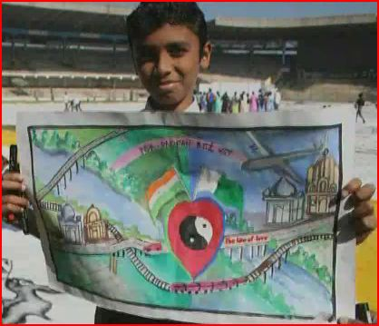 A child's painting depicting the law of love from <i>Law of Love</i> short film