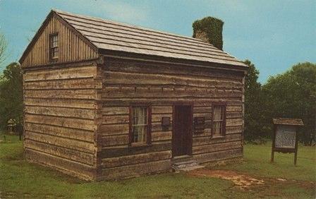 Lincoln's cabin (www.frontiertraveler.com)
