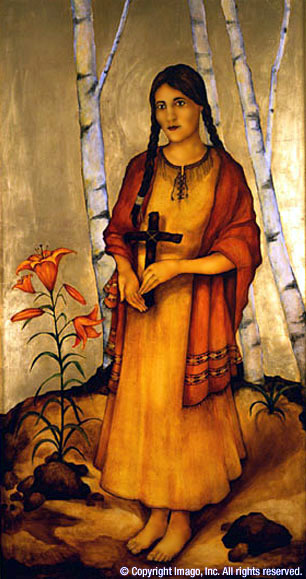 Kateri Tekakwitha (http://conservation.catholic.org/kateri.htm) (Meltam Aktas, artist)