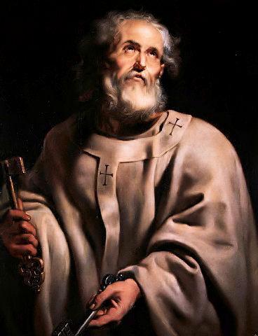 St Peter the pope (http://upload.wikimedia.org/wikipedia/commons/2/2d/Pope-peter_pprubens.jpg)