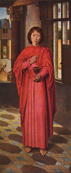 St. John the Apostle (http://en.wikipedia.org/wiki/Image:Hans_Memling_039.jpg)