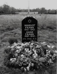 <b> The grave site of Anne and her mother </b> <br>(www.all-science-fair-projects.com)