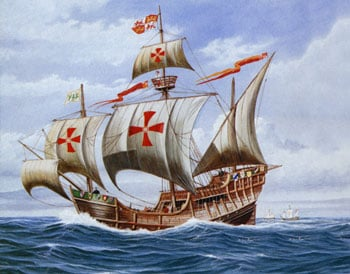 who christopher columbus sailed for