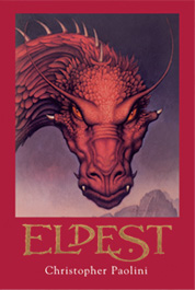 Second book, Eldest (I got this picture from Paolini's web-site: https://www.alagaesia.com/)