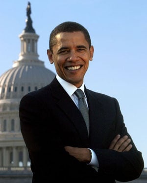 Barack Obama at the Capitol