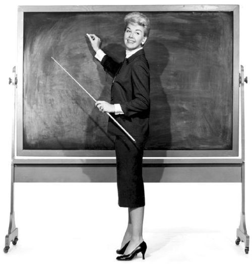 Doris Day in Teacher's Pet (http://www.dorisday.net/teacher_s_pet.html)