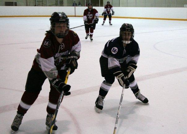 Lindsay playing hockey (Uncle Kelly)
