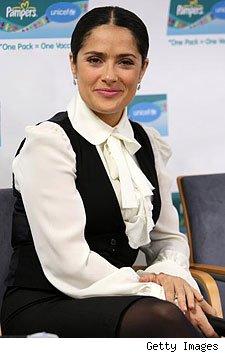 Salma Hayek at Pampers UNICEF