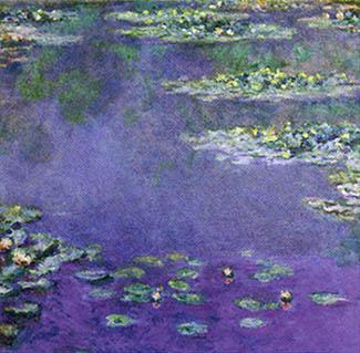 Water Lilies painting in the Museum of Modern Art <br>(http://www.artist-doug-carpenter.i12.com/impressionist/impress-gifetc/monet-lily_bg.jpg)