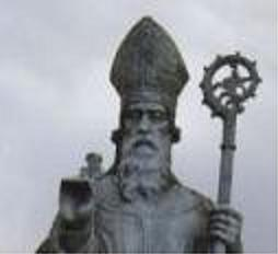 A statue of St. Patrick