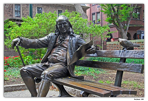 Ben Franklin in Philadelphia, Pennsylvannia