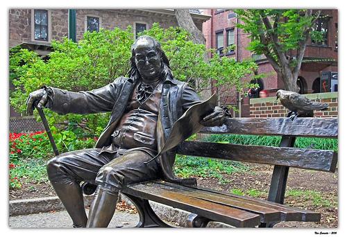 Ben Franklin in Philadelphia, Pennsylvannia
