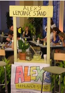 This is a picture of  Alex's lemenade stand