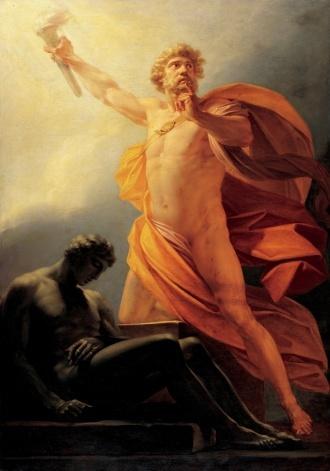 Prometheus standing in glory. (http://centres.exeter.ac.uk/cee/prometheus/Heinrich_fueger_1817_prometheus.jpg)