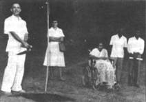 Dr. Brand at the groundbreaking ceremony at Christian Medical School in Vellore, India <br> (http://pmrcmcv.tripod.com/ri/dig.jpg)