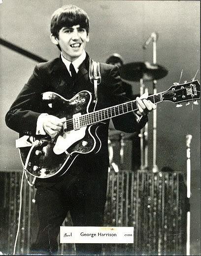 George Harrison playin his Gretsch  ( www.myspace.com/fab4george)