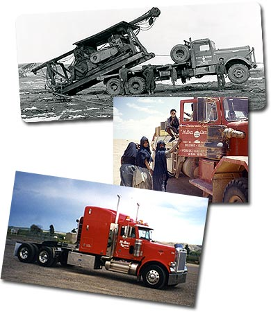 Top, the oldest picture of a company vehicle. Mid (http://www.hiballtrucking.com/images/history_img.jpg)