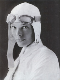 Portrait of Amelia Earhart. <br>(http://www.examiner.com/x-4715-North-American-Travel<br>-Examiner~y2009m8d18-Celebrate-National-<br>Aviation-Day-with-the-Wright-brothers-<br>Charles-Lindbergh-and-Amelia-Earhart)