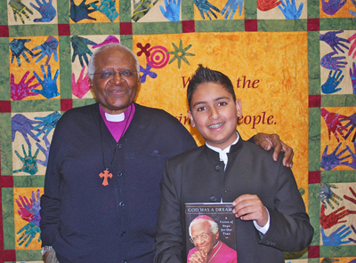 With Archbishop Desmond Tutu in South Africa