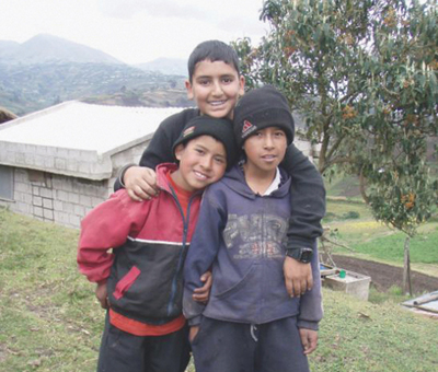 Bilaal with Friends in Ecuador