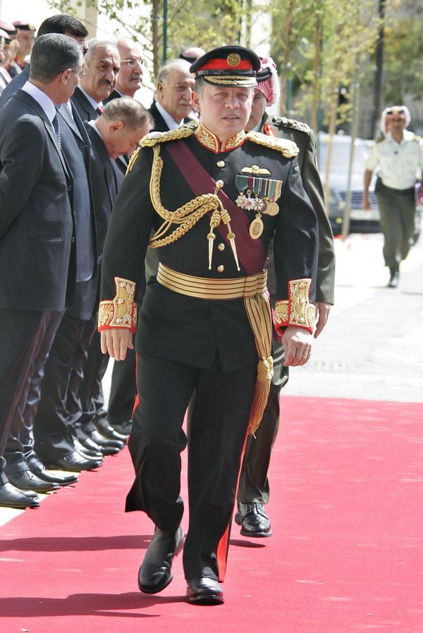 The king Abdullah II bin Al-hussein in Amman  (yahoo )