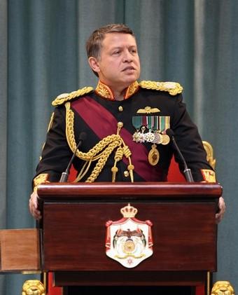 The king Abdullah bin al-hussein  (google )