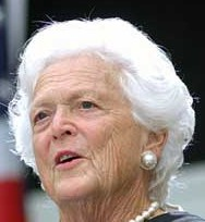 Barbara Bush (http://www.albion.edu/ac_news/AlbionViews2004-05/images04-05/convocationbbush1.jpg)