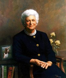 Barbara Bush White House Portrait (http://upload.wikimedia.org/wikipedia/commons/0/09/Barbara_Bush.jpg)