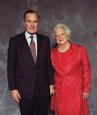 Her and her husbend! (http://hillbuzz.files.wordpress.com/2009/08/george-barbara-bush.jpg)