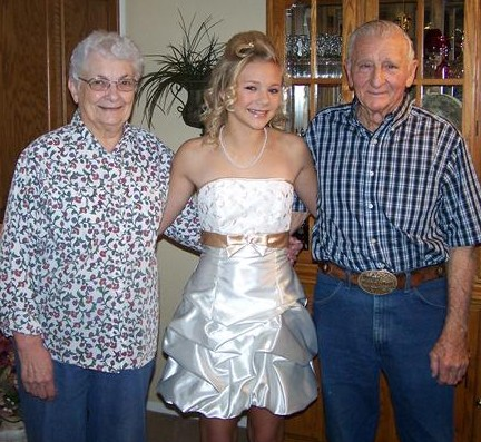 My grandma, grandpa & me before Twirp