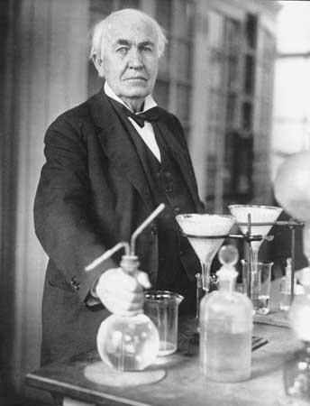 thomas edison quotes. Thomas Edison in his science
