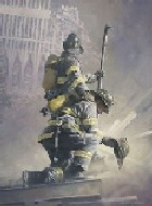 These are firemen battling a large fire. (unconstrainedtruth)