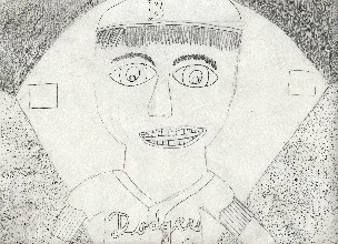 A drawing of  Pee Wee Reese. (I drew it)