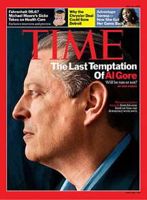 Al Gore is on the front of Times Magazine (Treehunger.com)
