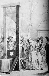 de Gouges before execution