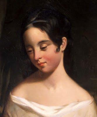 Edgar's wife Virginia, painted by Thomas Sully (https://3.bp.blogspot.com/_CvDCiEFbNy8/Ssymmom-XOI/AAAAAAAALpU/tu-wVV15bXs/s400/Thomas+Sully+Virginia+Clemm+Poe.jpg)