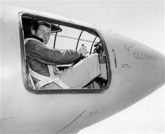 Capt. Charles E. Yeager seated in the cockpit of  (www.af.mil)