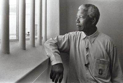 Nelson Mandela in prison (http://technostudies.wordpress.com/)