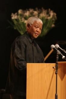 Nelson Mandela giving a speech (http://www.nelsonmandela.org/images/uploads/8)