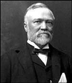 This is a portrait of Andrew Carnegie (Google)