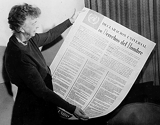 Eleanor Roosevelt holding up the Human Rights doc (http://www.thenutgraph.com/user_uploads/images/2008/12/09/TOP_HR_LandEleanorRooseveltWikipedia.jpg)