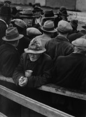 "The White Angel Breadline in San Francisco, Lange's first ""street"" photo, taken in 1933."