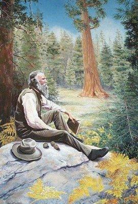 John Muir in the wilderness he loved ( thisandthatandmoreofthesame.blogspot.com)