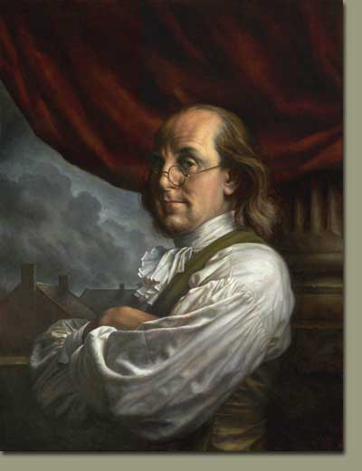 Benjamin Franklin looks out a window to the world. (http://www.synthstuff.com/mt/archives/ben_franklin.jpg)