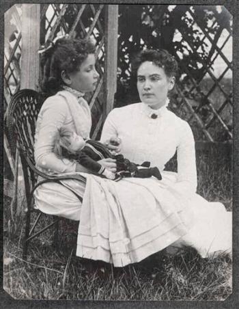 Keller with her teacher, Annie Sullivan