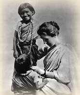 Amy Carmichael with Indian children